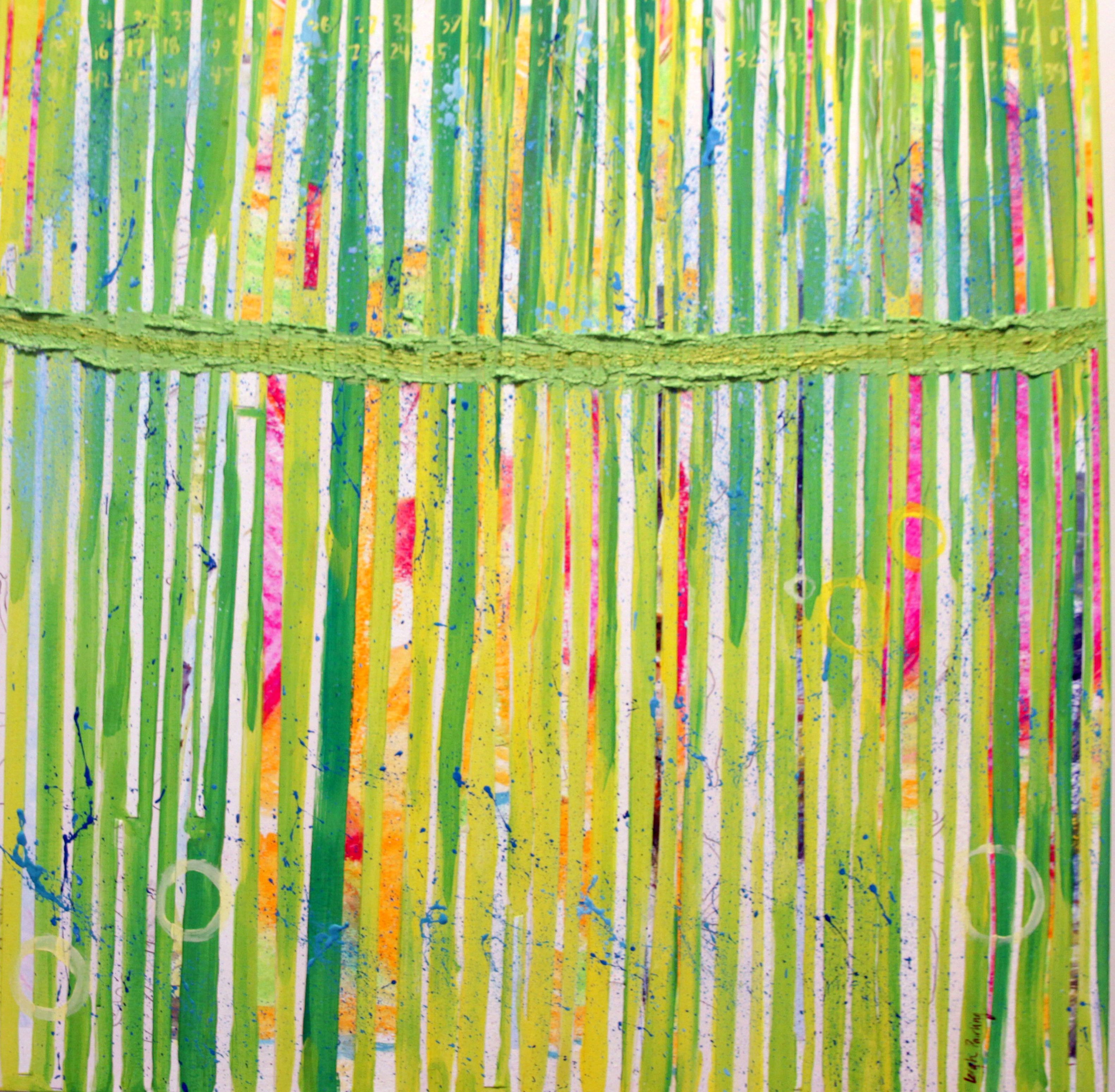Leigh Pawling Studio Sublimity Green Verticals II